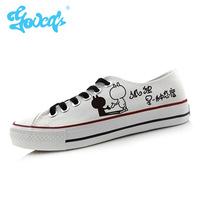 Rabbit hand-painted shoes canvas shoes low shoes women's men's lovers casual shoes women shoes