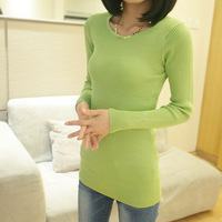 2013 autumn all-match slim small autumn and winter basic sweater o-neck long-sleeve sweater