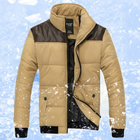 2013 wadded jacket male slim stand collar  winter outerwear men's clothing cotton-padded jacket winter thickening