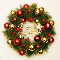 Christmas decoration christmas wreath christmas pine needles garishness pine needle decoration garland 40cm xg005