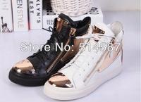 2014 latest women flat sneakers fashion running sneakers zipper flat women shoes