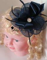 High quality flower Mesh & Bead Fascinator/ Corsage, choice of two styles. free shipping