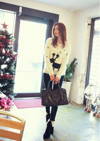 2013 New Korean female Longhaired cute fawn sweater pullover sweater coat