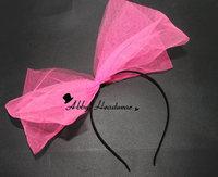 80s Headband - Tutu Net Bow - Hen Party Hair Band Fascinator 9 colours Double