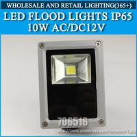 Wholesale 30PCS LED Flood Lights IP65 10W AC/DC 12V warm white / Cold white Free Shipping