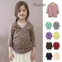 girl's fashion brand baby children outerwear kids knitted cardigan kids sweater 100% cotton