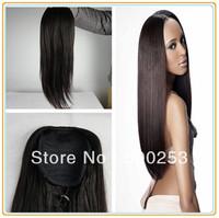 Sunnnymay high quality and beautiful hotsale dark yaki human hair pony tail