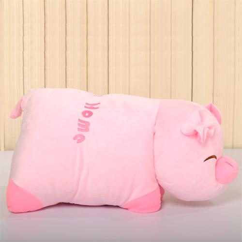 Porco travesseiro brinquedo de pelúcia porco travesseiro dobrável cochilo travesseiro boneca de pano porco boneca grande(China (Mainland))