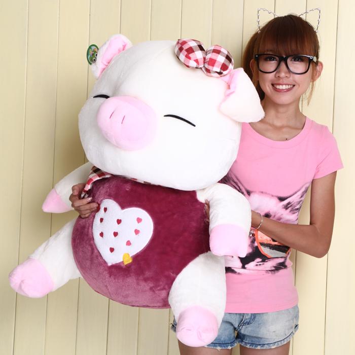 Três cis porco brinquedo de pelúcia grande porco boneca de presente de aniversário(China (Mainland))