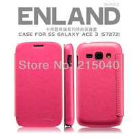 Free Shipping! Original Brand KLD KAKAIDENG Leather Flip Case for Samsung Galaxy Ace 3 S7270 S7272 ENLAND Leather Cover, SAM-160