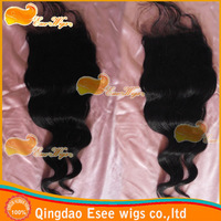 Free shipping brazilian hair closure swiss lace loose wave closure 4X4inch, density 120%, natural color in stock