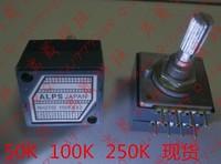 Japan origin ALPS 27 type Dual 100K potentiometer---circle handle