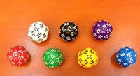 Free Shipping !!! 30 Dice Bosons 30 Sided Polyhedral Dice Multicolour Small Gift Game Dice 25mm High Quality 6pcs/lot #W25