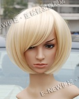 Fashion New Short Platinum Blonde BOB Wigs
