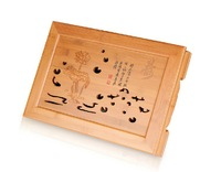 xiangfu bamboo drawer style 40*28*7.5 CM kungfu tea tray water storage traditional chinese tea board,Free shipping