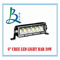 """30W 6"""" LED Work Working Driving Light Bar for Boat Car Truck Spot Wide Floodlight Beam SUV ATV OffRoad Fog Lamp 10V~30V"""