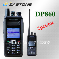 2pcs/lot  Zastone DP860 Commercial Digital Radio UHF 400-470MHz digital walkie talkie 256 channels free shipping