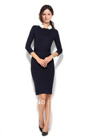 new 2013 spring autumn women's OL business formal  European Style 4size blue B Victoria Beckham dress dresses free shipping hxh