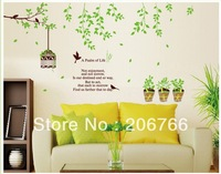 Free Shipping Wholesale Large Tree Branch Wall Stickers for living room Wall Decals Home decor wall art birthday Gift