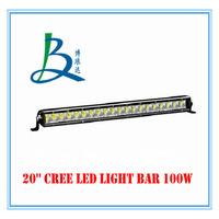 2PCS 20 INCH 100W CREE LED LIGHT BAR FLOOD FOR OFF ROAD LED BAR IP67 4WD ATV UTV SUV LED WORK LIGHT BAR