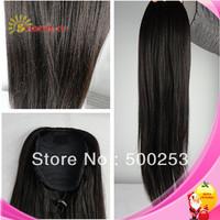 Free shipping Sunnnymay high quality and beautiful hotsale dark yaki human hair pony tail