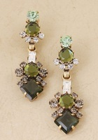2013 New Arrival JC Green Crystal Dangle Earrings Top Quality