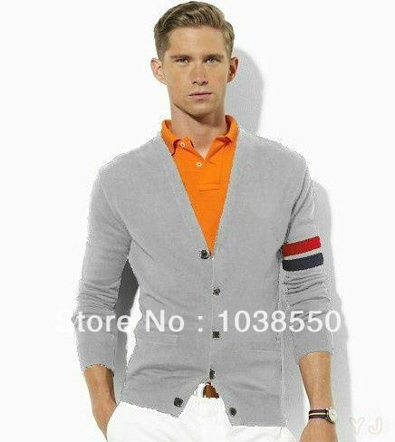 [해외] 남성 2013 새로운 패션 복고풍 면화 재배 스웨터 V 넥 가디건..