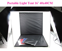 Free Shipping Wholesale Studio Light Tent 16'(40cm) Square Portable Light Tent 4 Backgrounds Studio Photographic Equipment(China (Mainland))