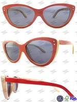 Free Shipping Hand Made Sunglasses Polarization Sunglasses Red Frame Gray Lens Model 6090 ars