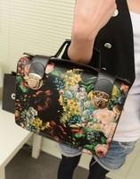 new 2013 women's designer handbags high quality  vintage oil painting flower messenger bag fashion bags mini handbag