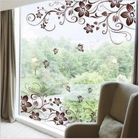 Vine Flower Butterfly Removable PVC Wall Sticker Home Decor Decals Art