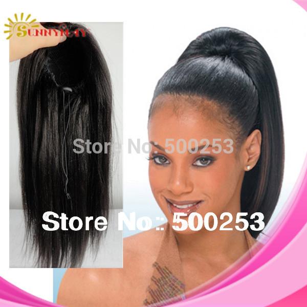 Human Hair Natural Ponytails 55