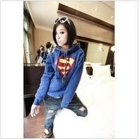 Fashion autumn women hoodie New stock Super man thick long-sleeve with a hood Korean women's pullover Free Shipping H938
