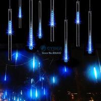 4Pcs/Lot Fashion 100-240V/EU 50CM Blue Meteor Shower Rain Tubes LED Light For Christmas Garden Tree Decoration Lamp TK1327