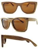 Hand Made Sunglasses Fashion Polarization Sunglasses Pear Wood Frame Brown Lens Free Shipping Model 6001 pnb