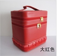 Large capacity double vanity case jewelry box Cosmetic Pouch Makeup Artist finishing package