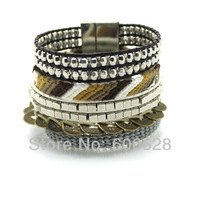 Wholesale Popular Hipanema Bracelets Multilayer Bangle Friendship Bracelet/Woven Bracelet/Coins/Alloy Free Shipping!