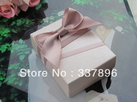 European Style New Wedding Candy Box With Silk Ribbon Wraps Flowers Wedding Favors 50Pcs Lot