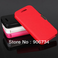 Wholesale 4 Colors Mobile Phone Case Magnetic Holster Flip Leather Hard Cover  For  iPhone 4/4S