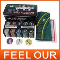 Creative 1 set Texas Hold 'Em Poker Casino Gambling poker Game set,poker chips wholesale