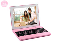 Free Shipping 4000mAh Bluetooth Wireless Keyboard Clamshell Case and Power Bank for iPad 2 3  4