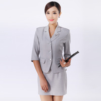 Three button half sleeve suit set work wear work wear work wear women's formal tooling ol