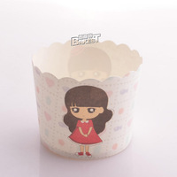 free shipping 100pcs medium size muffin cupcakes J-93# BAKEST 70*60*55MM