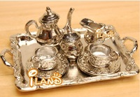 iland coffee set 8 PCS Dollhouse miniature Tablwware tea set  DM002C
