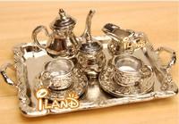 iland coffee set 8 PCS Dollhouse miniature Tablwware tea set  DM002C