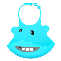 2013 free shipping Washable safe Silicone Infant Feeding Baby Kid Bib Fun Characters Waterproof