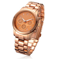 4 colors new arrival brand style no logo quartz watch rose gold relogio full steel watches relojes de marca Frete Gratis