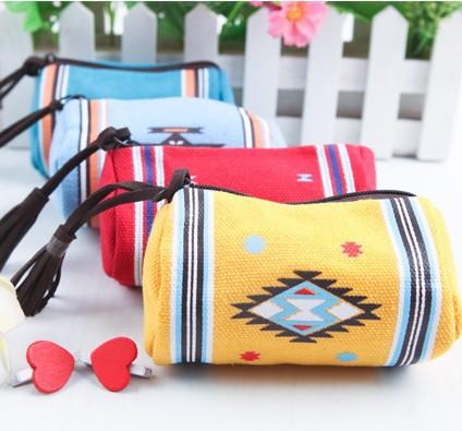 4 colors India Style Zipper Coin Purse Wallets Mini Bag Free shipping(China (Mainland))