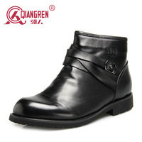 New 2014 Flats Brand Men Shoes Winter Boots Male Cotton-padded Winter Shoes Business Casual Genuine Leather Boots 9s-3296c