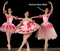 Elegant Child girl Strapless Princess Ballet TuTu Dance Dress Mixed Sizes